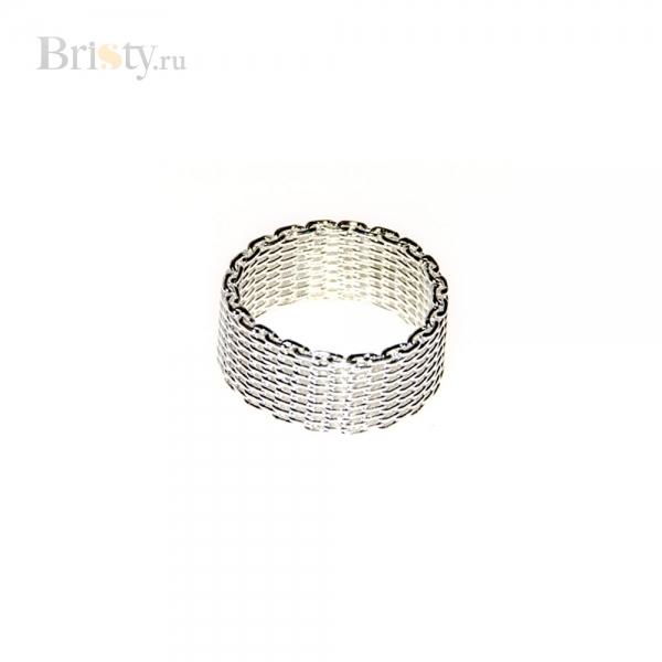 Широкое кольцо из плетеного метала