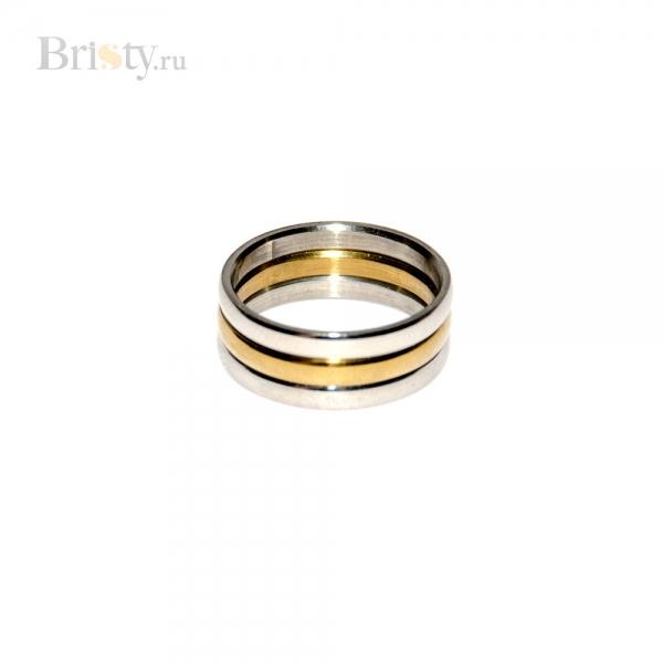 Плоское кольцо из 3 тонких колечек