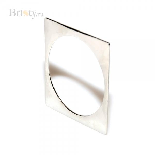 Тонкий серебряный браслет - квадрат