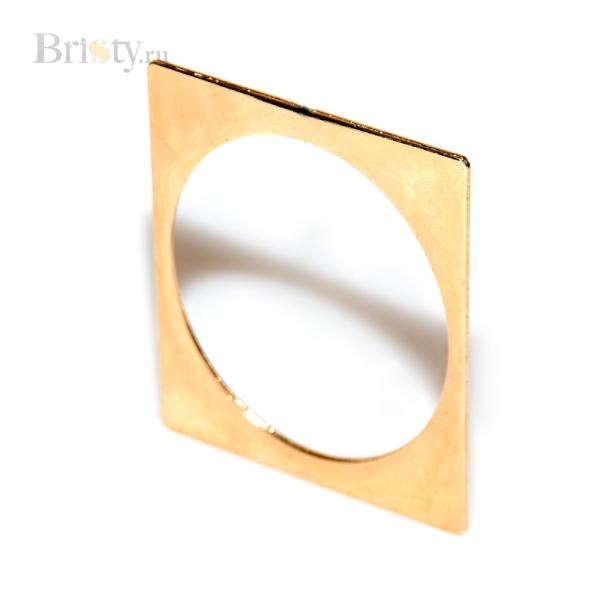 Золотой тонкий браслет - квадрат