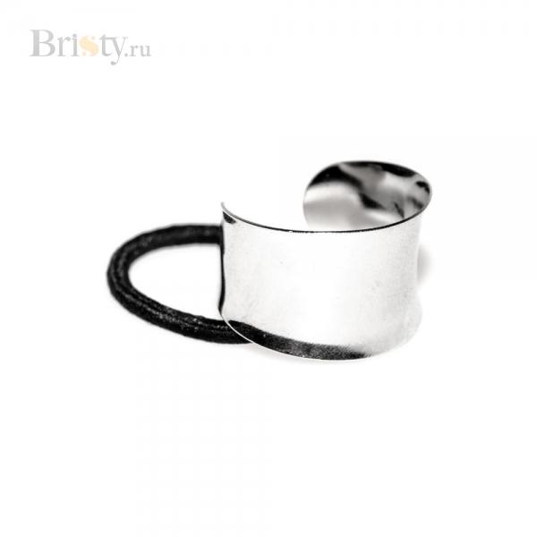 Резинка для волос с серебряным ободком