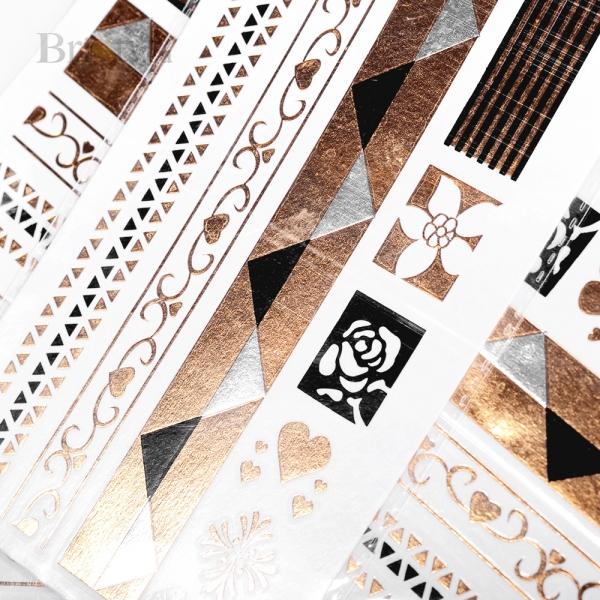 Флеш Тату №17 Цветы в геометрии, 10х20 см