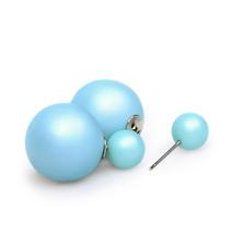 Серьги-шары матовые голубые в стиле Dior