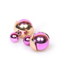 Серьги-шары розовые с золотом в стиле Dior