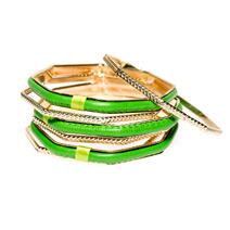 Комплект жестких многоугольных  браслетов