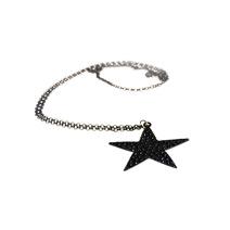Черная подвеска - звезда на длинной цепочке